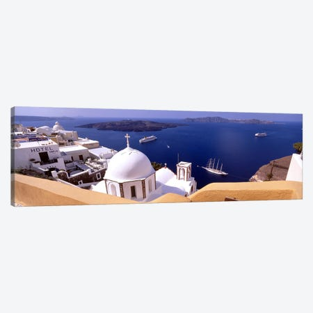 High angle view of buildings in a city, Santorini, Cyclades Islands, Greece #2 Canvas Print #PIM4449} by Panoramic Images Art Print