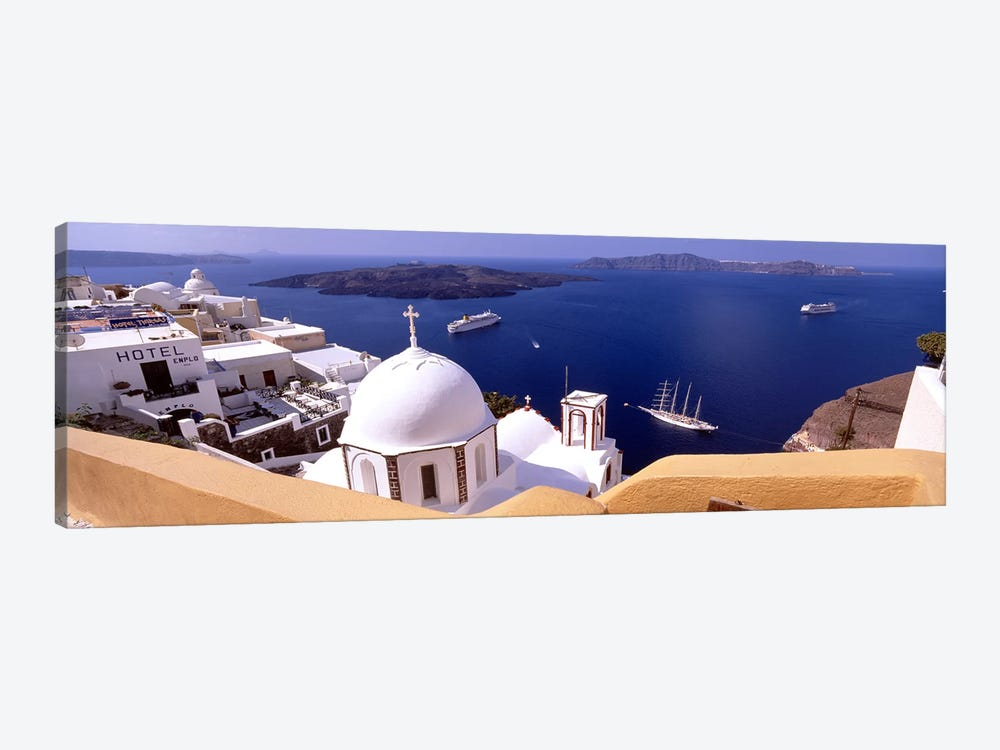 High angle view of buildings in a city, Santorini, Cyclades Islands, Greece #2 by Panoramic Images 1-piece Canvas Artwork