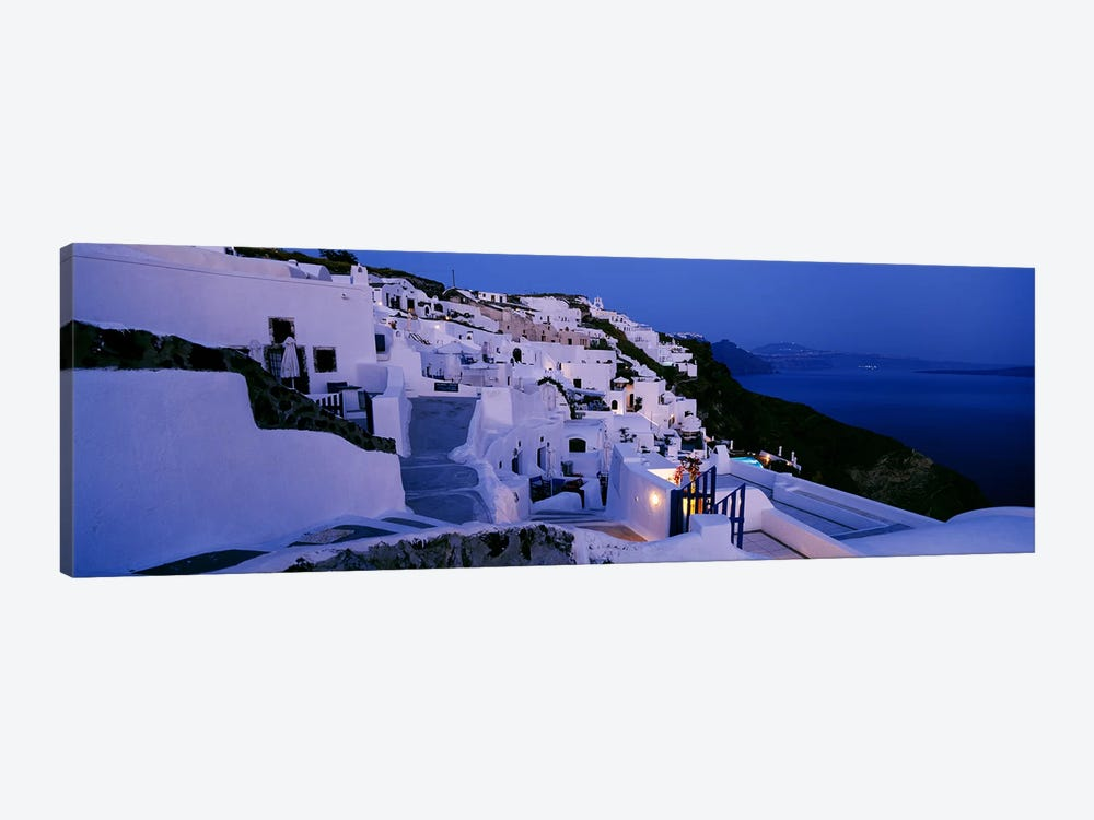 Coastal Village Landscape At Dusk III, Santorini, Cyclades, Greece by Panoramic Images 1-piece Canvas Print