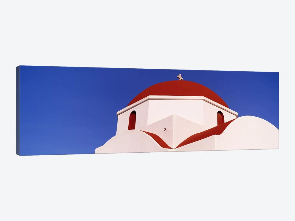 Low angle view of a church, Mykonos, Cyclades Islands, Greece by Panoramic Images 1-piece Canvas Wall Art