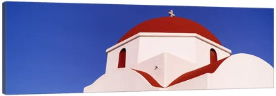 Low angle view of a church, Mykonos, Cyclades Islands, Greece Canvas Art Print