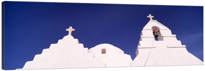 Low angle view of a church, Mykonos, Cyclades Islands, Greece #2 Canvas Art Print
