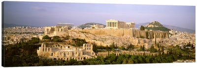 High Angle View, Acropolis, Athens, Greece Canvas Print #PIM4465