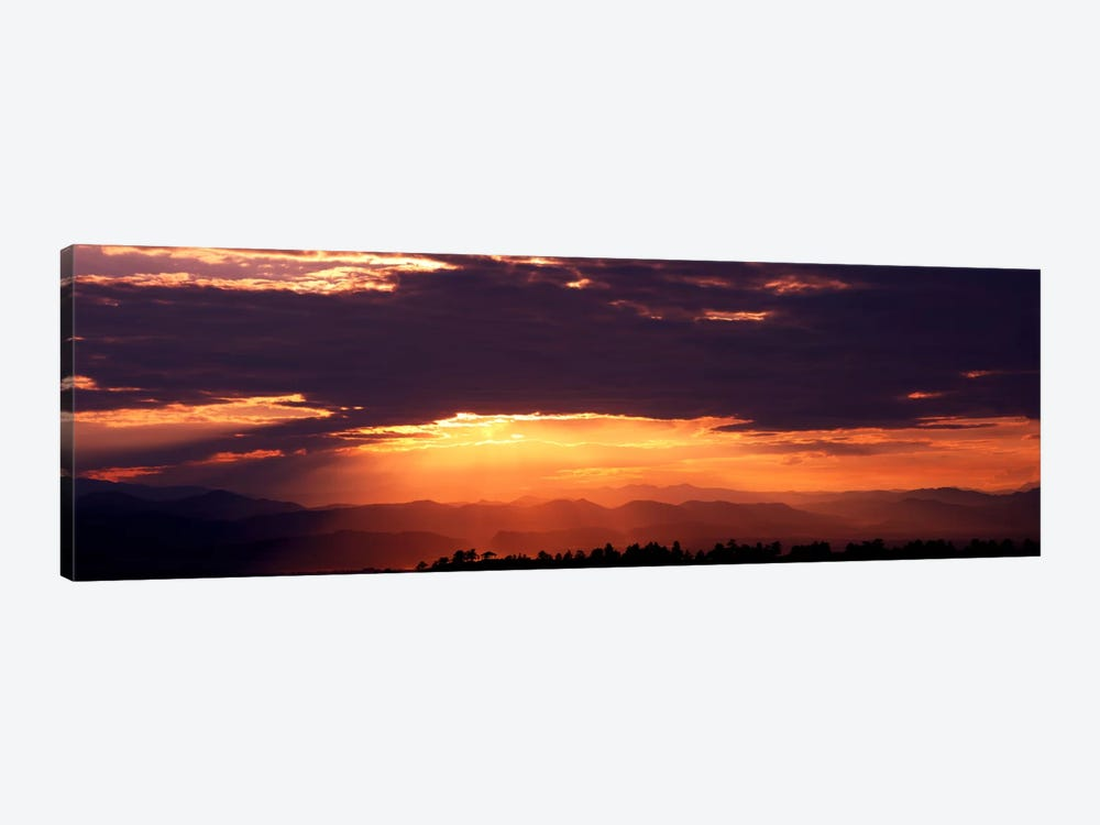Sunset over Rocky Mts from Daniels Park CO USA by Panoramic Images 1-piece Canvas Art Print