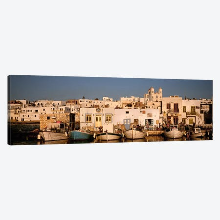 Docked Vessels, Naousa Harbour, Paros, Cyclades, Greece Canvas Print #PIM4471} by Panoramic Images Canvas Art