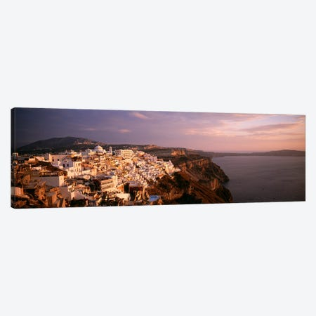 High-Angle View Of Fira, Santorini, Cyclades, Greece 3-Piece Canvas #PIM4473} by Panoramic Images Canvas Wall Art