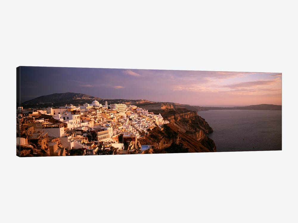 High-Angle View Of Fira, Santorini, Cyclades, Greece by Panoramic Images 1-piece Canvas Print