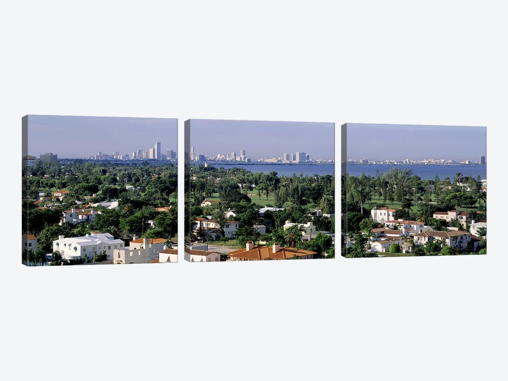 High Angle View Of The City, Miami, Florida, USA by Panoramic Images 3-piece Canvas Art Print