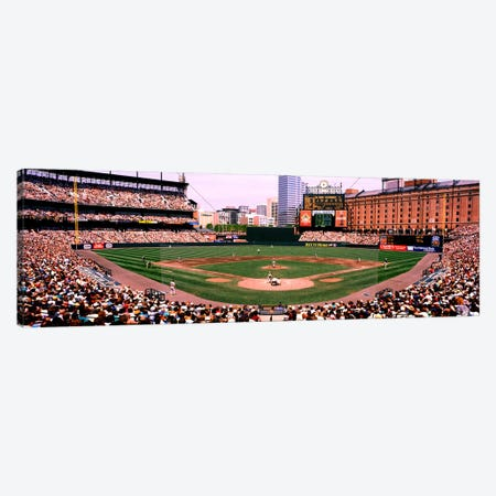 High angle view of a baseball field, Baltimore, Maryland, USA Canvas Print #PIM4480} by Panoramic Images Canvas Art Print