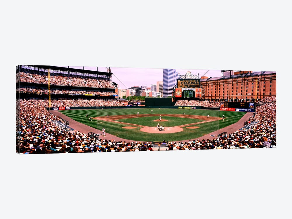 High angle view of a baseball field, Baltimore, Maryland, USA by Panoramic Images 1-piece Canvas Print