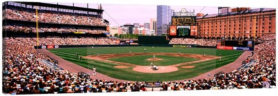 High angle view of a baseball field, Baltimore, Maryland, USA Canvas Art Print