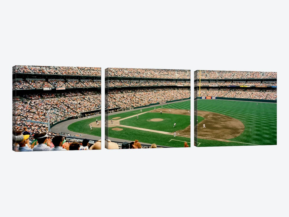 High angle view of a baseball field, Baltimore, Maryland, USA #2 by Panoramic Images 3-piece Canvas Wall Art