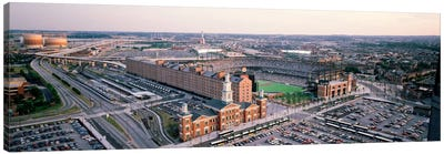 Aerial view of a baseball field, Baltimore, Maryland, USA Canvas Art Print