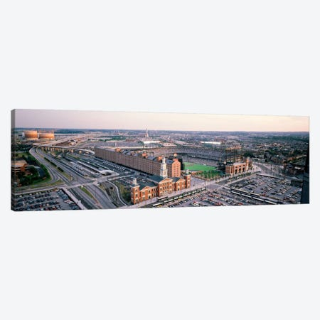 Aerial view of a baseball field, Baltimore, Maryland, USA Canvas Print #PIM4482} by Panoramic Images Art Print