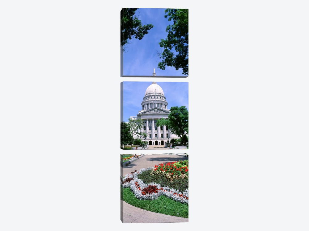 USA, Wisconsin, Madison, State Capital Building by Panoramic Images 3-piece Art Print