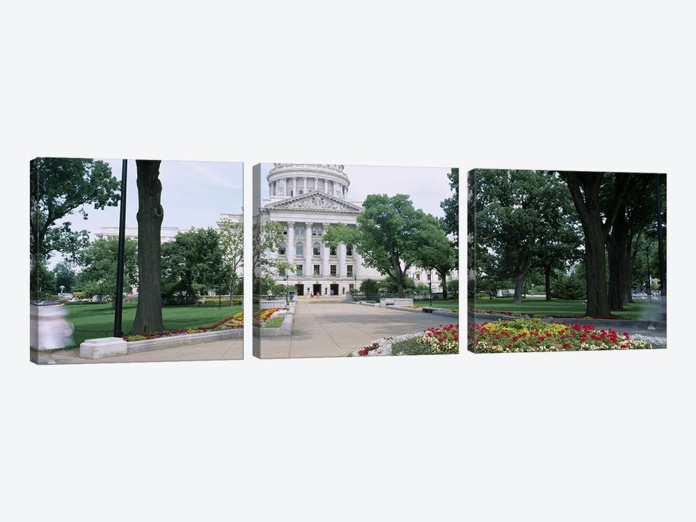 State Capital Building, Madison, Wisconsin, USA by Panoramic Images 3-piece Canvas Artwork