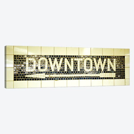 USANew York City, subway sign Canvas Print #PIM4489} by Panoramic Images Canvas Art Print