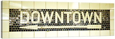 USANew York City, subway sign Canvas Art Print