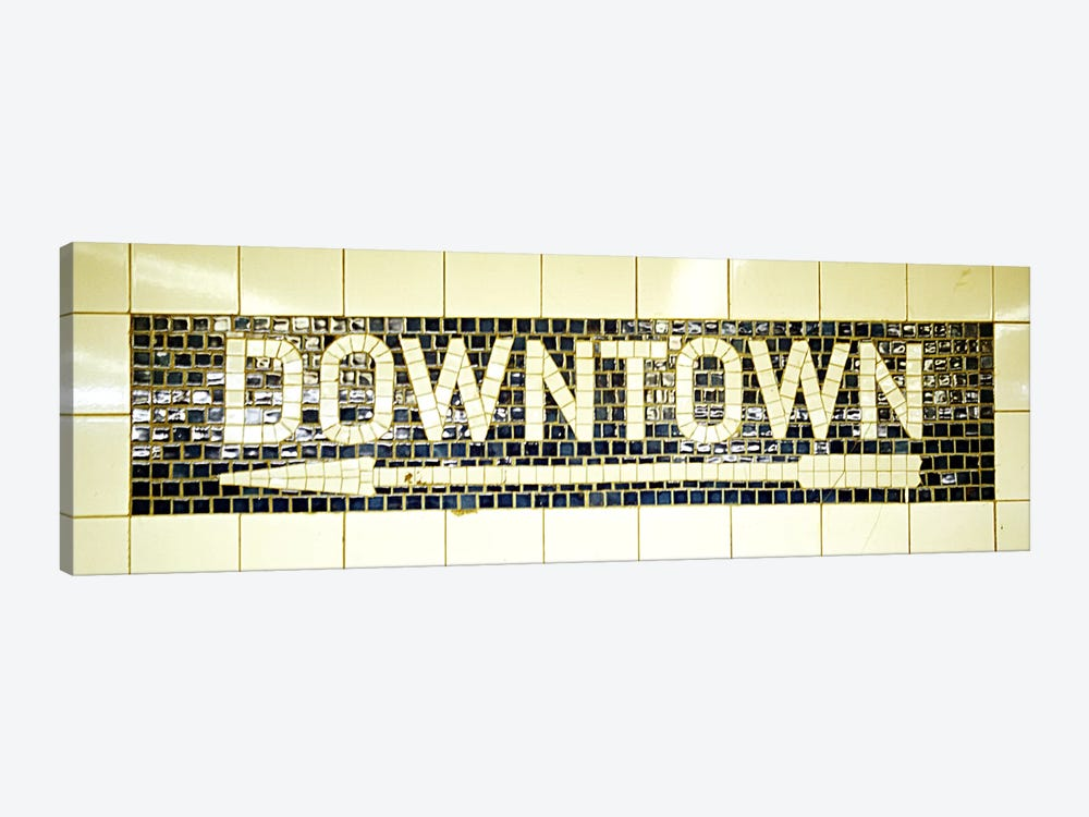 USANew York City, subway sign by Panoramic Images 1-piece Canvas Art
