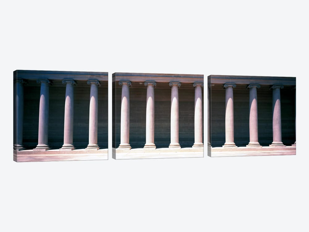 Row of Columns San Francisco CA by Panoramic Images 3-piece Canvas Art Print