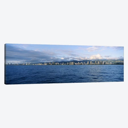 Buildings at the waterfront, Honolulu, Oahu, Hawaii, USA #2 Canvas Print #PIM4493} by Panoramic Images Canvas Artwork