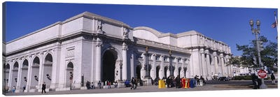 USA, Washington DC, Tourists walking in front of Union Station Canvas Print #PIM4495