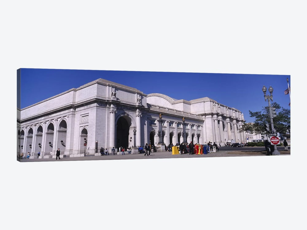 USA, Washington DC, Tourists walking in front of Union Station by Panoramic Images 1-piece Art Print
