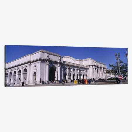 USA, Washington DC, Tourists walking in front of Union Station Canvas Print #PIM4495} by Panoramic Images Canvas Print