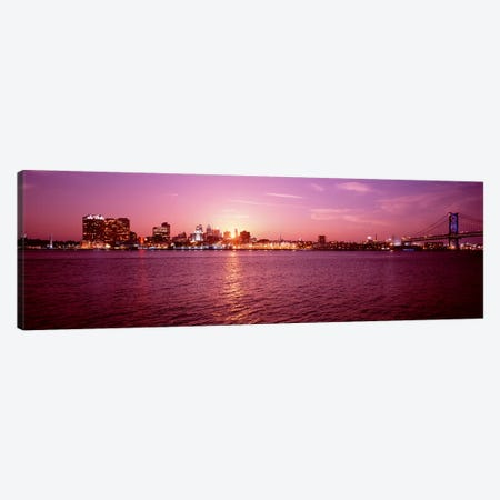 USA, Pennsylvania, Philadelphia at Dusk Canvas Print #PIM4497} by Panoramic Images Art Print
