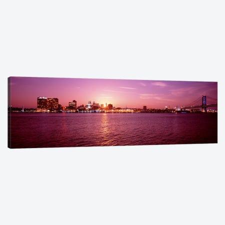 USA, Pennsylvania, Philadelphia at Dusk Canvas Print #PIM4497} by Panoramic Images Art Print