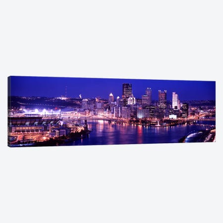USA, Pennsylvania, Pittsburgh at Dusk Canvas Print #PIM4498} by Panoramic Images Canvas Artwork