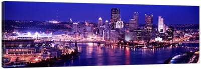USA, Pennsylvania, Pittsburgh at Dusk Canvas Art Print