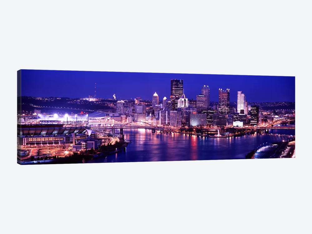 USA, Pennsylvania, Pittsburgh at Dusk by Panoramic Images 1-piece Canvas Artwork