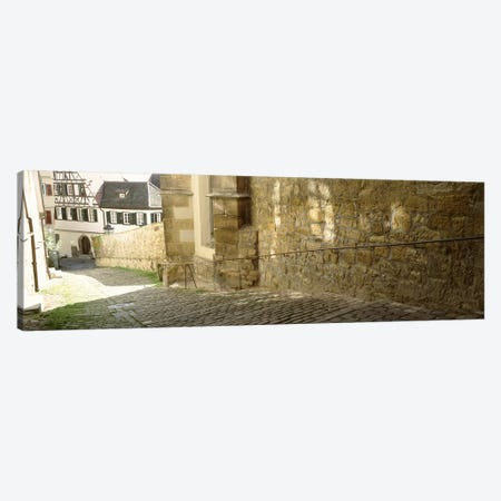 Cobblestone Street, Altstadt, Tubingen, Baden-Wurttemberg, Germany Canvas Print #PIM4503} by Panoramic Images Canvas Wall Art