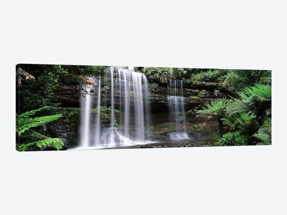 Waterfall in a forest, Russell Falls, Mt Field National Park, Tasmania, Australia 1-piece Canvas Art Print