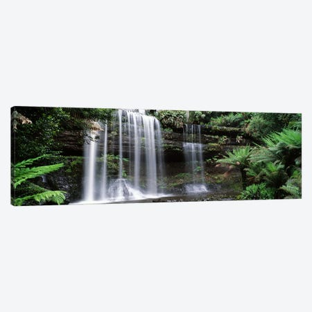 Waterfall in a forest, Russell Falls, Mt Field National Park, Tasmania, Australia Canvas Print #PIM4505} by Panoramic Images Art Print