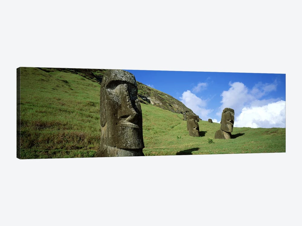 Stone Heads, Easter Islands, Chile by Panoramic Images 1-piece Canvas Wall Art