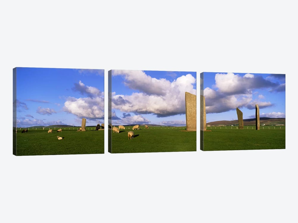 Stones Of Stenness, Orkney Islands, Scotland, United Kingdom by Panoramic Images 3-piece Canvas Art Print