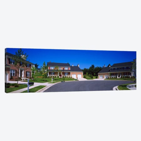 Houses Along A Road, Seaberry, Baltimore, Maryland, USA Canvas Print #PIM451} by Panoramic Images Canvas Print