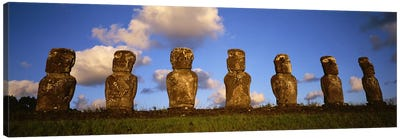 Stone Heads, Easter Islands, Chile #2 Canvas Art Print