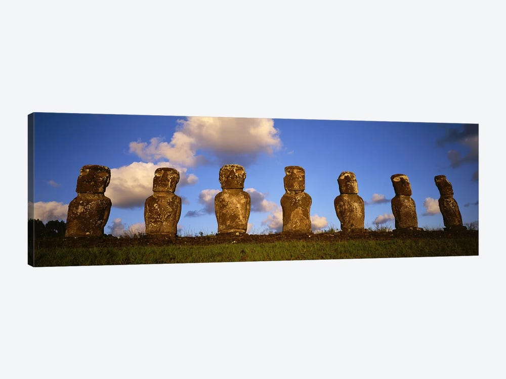 Stone Heads, Easter Islands, Chile #2 by Panoramic Images 1-piece Canvas Wall Art