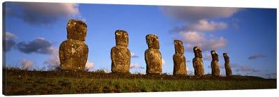 Ahu Akivi, Rapa Nui (Easter Island), Valparaiso Region, Chile Canvas Art Print