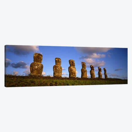 Ahu Akivi, Rapa Nui (Easter Island), Valparaiso Region, Chile Canvas Print #PIM4527} by Panoramic Images Canvas Print