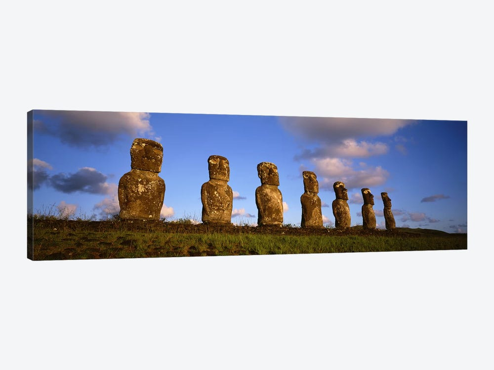 Ahu Akivi, Rapa Nui (Easter Island), Valparaiso Region, Chile by Panoramic Images 1-piece Canvas Print