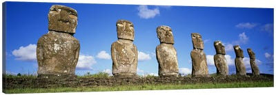 Stone Heads, Easter Islands, Chile #3 Canvas Art Print