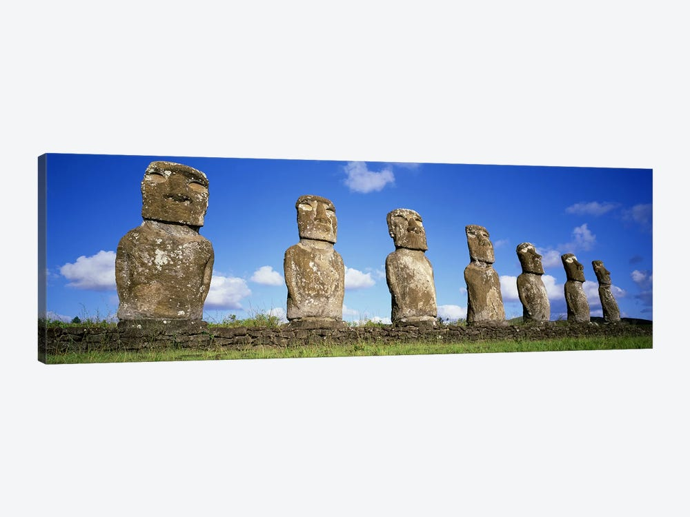 Stone Heads, Easter Islands, Chile #3 by Panoramic Images 1-piece Canvas Print