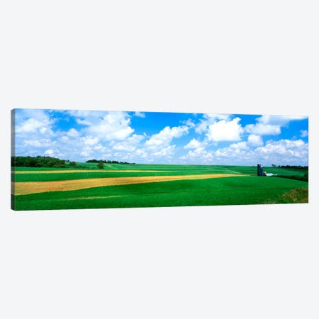 Cloudy Country Ladnscape, Wisconsin, USA Canvas Print #PIM452} by Panoramic Images Art Print