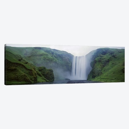 Skogafoss, Skogar, Iceland Canvas Print #PIM4532} by Panoramic Images Canvas Print