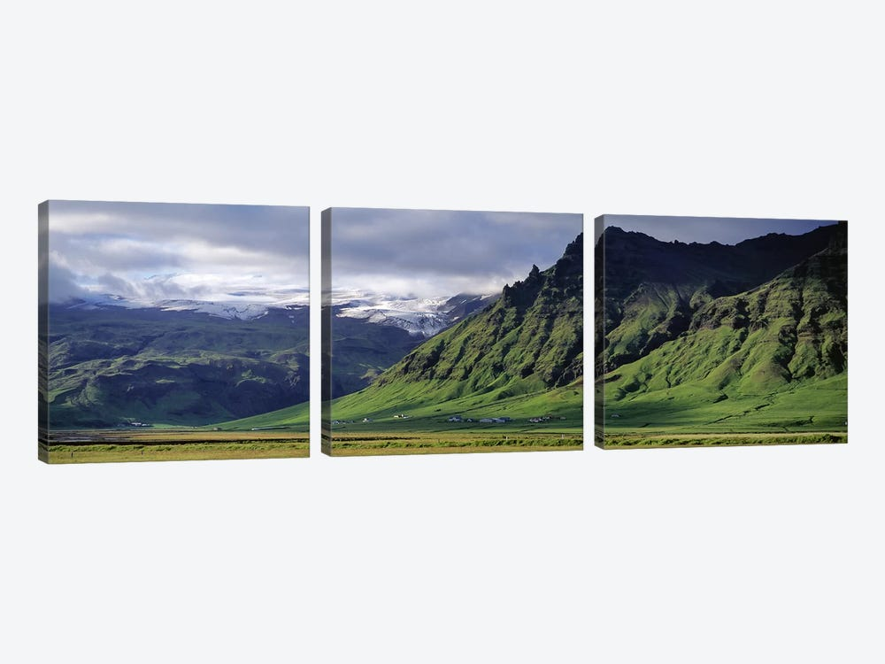 Mountain Valley Landscape, South Coast, Iceland by Panoramic Images 3-piece Canvas Art