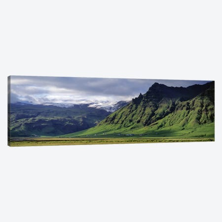 Mountain Valley Landscape, South Coast, Iceland Canvas Print #PIM4533} by Panoramic Images Canvas Art Print